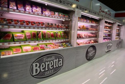 "The Beretta group is official sponsor for ""salami"" section of the Expo"