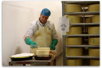 Asiago: the transformation, the cheesemakers touch