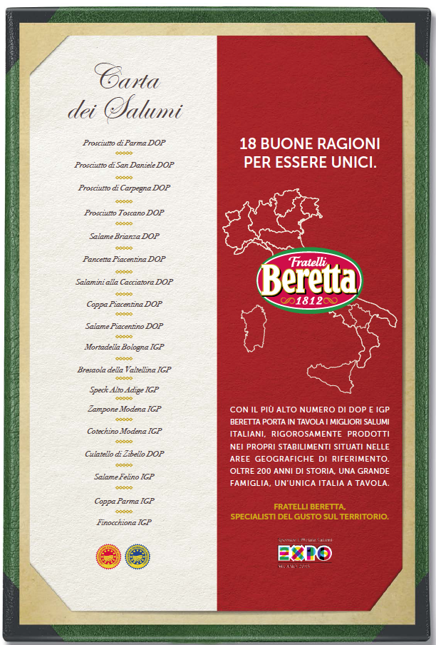 carta dei salumi Beretta
