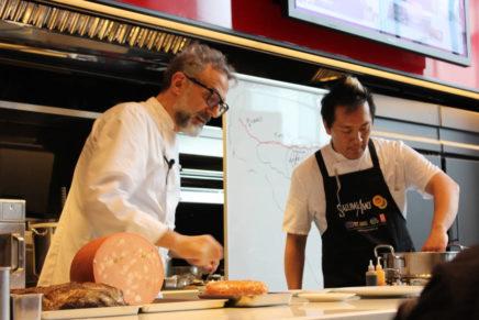 Massimo Bottura star of Italian cold cuts in Japan