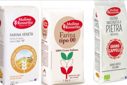 "Molino Rossetto launched the ""00"" flour – 100% Italian wheat"